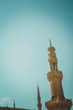 老清真寺尖塔在开罗,埃及 库存图片