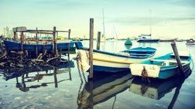 老渔船 库存图片