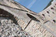 老渡槽由与曲拱的石头制成 免版税库存照片