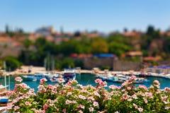 老港口在安塔利亚,土耳其 免版税图库摄影