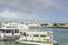 老港口在拉罗歇尔,法国 库存照片