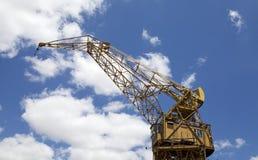 老港口起重机在马德罗港在布宜诺斯艾利斯,阿根廷 免版税图库摄影