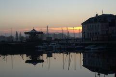 老港口,翁夫勒Normandie 免版税库存照片