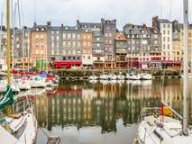 老港口 05法国honfleur诺曼底 免版税库存图片
