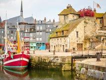 老港口 05法国honfleur诺曼底 免版税库存照片