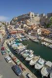 老港口Vallon des Auffes在马赛在法国 库存照片