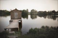 老湖码头,压抑背景,打破的梦想 图库摄影