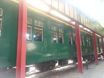 老火车在hk 免版税库存图片