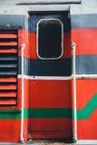 老火车支架蒸汽废物门 免版税图库摄影
