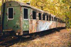老火车支架蒸汽废物 免版税库存图片