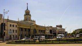 老火车站在克拉斯诺达尔,俄罗斯 免版税库存照片