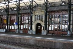 老火车站在哈林在Netherland 免版税库存照片