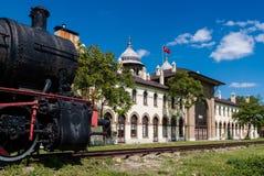 老火车站在土耳其 免版税库存图片
