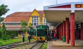 老火车站在大叻,越南 库存照片