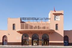 老火车站在马拉喀什 库存照片
