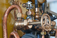 老火车蒸汽引擎 库存图片