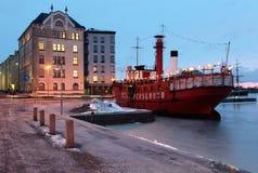 老灯塔船Relandersgrund在赫尔辛基 免版税库存图片