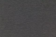 老灰色纸特写镜头纹理  密集的纸板的结构 黑色背景 免版税库存照片