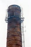 老烟囱工厂 免版税库存图片