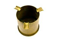 老烟灰缸黄铜 免版税图库摄影