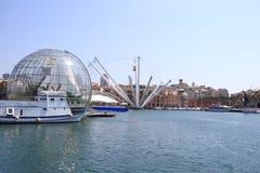 老热那亚港口 免版税图库摄影