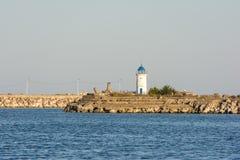 老热那亚的灯塔 免版税库存照片
