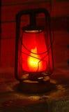 老煤油提灯 免版税图库摄影