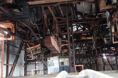 老煤矿在朗伊尔城 库存照片