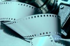 老照片照相机特写镜头与金属颜色的 免版税库存图片