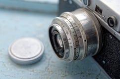 老照相机详细资料 免版税库存图片