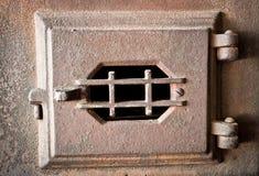 老熔炉门 免版税图库摄影