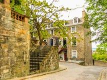 老爱丁堡,苏格兰,英国的街道视图 免版税图库摄影
