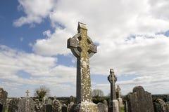 老爱尔兰古老凯尔特坟园 库存图片