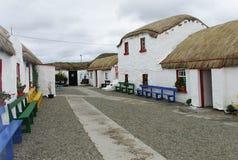 老爱尔兰饥荒村庄Co Donegal 库存图片