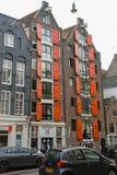 老牌大厦在历史的市中心 阿姆斯特丹, Netherlan 免版税库存照片