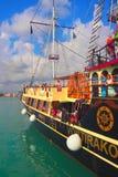 老牌天巡航小船,扎金索斯州,希腊 库存照片