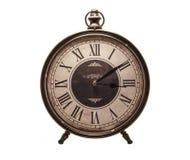 老牌时钟白色背景 图库摄影