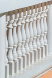 老牌楼梯栏杆,阳台篱芭 免版税库存图片