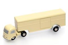 老牌玩具卡车白色 免版税库存照片