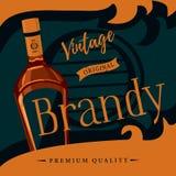 老牌白兰地酒或brandywine海报 库存例证