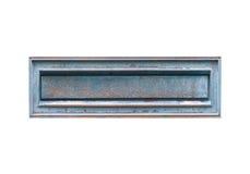 老牌被隔绝的金属letterbox 库存照片
