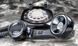 老牌转台式电话 免版税库存图片