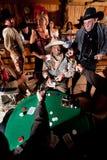 老牛仔被捉住的欺诈 库存照片