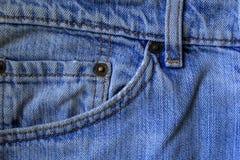 老牛仔裤特写镜头,细节, Deniml 免版税图库摄影