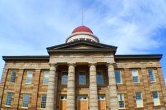 老状态国会大厦大厦在斯普林菲尔德 免版税库存图片