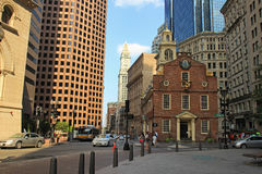 老状态议院在波士顿 免版税库存照片
