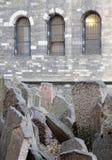 老犹太公墓和教会,布拉格 免版税图库摄影