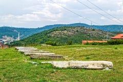 老犹太公墓在普里什蒂纳 免版税库存图片