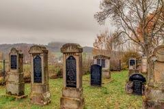老犹太坟园在德国巴伐利亚 免版税库存照片