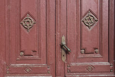 老犹太教堂入口  库存图片